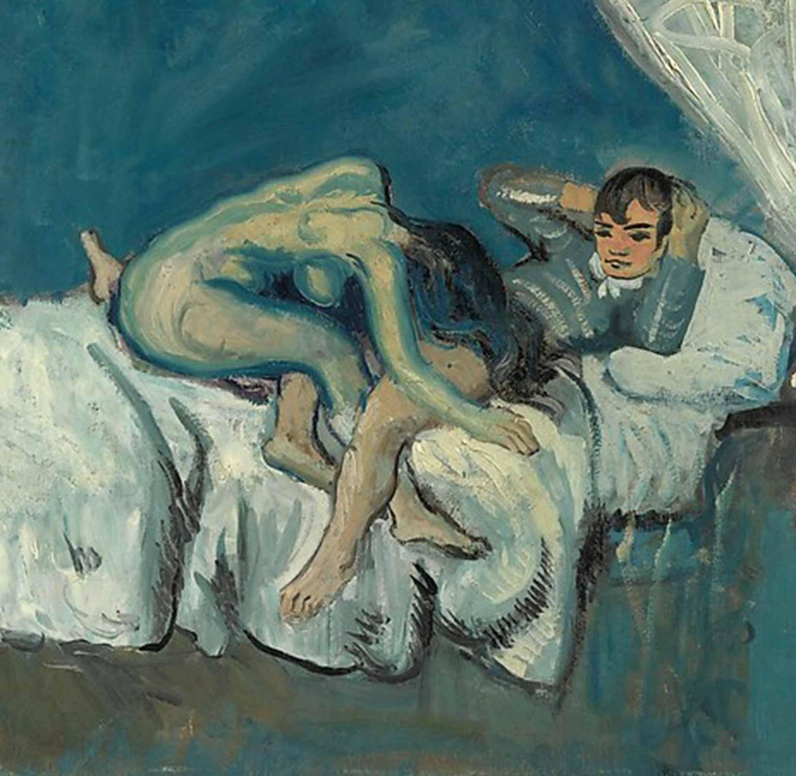 Pablo Picasso La Douceur (1903) blue period