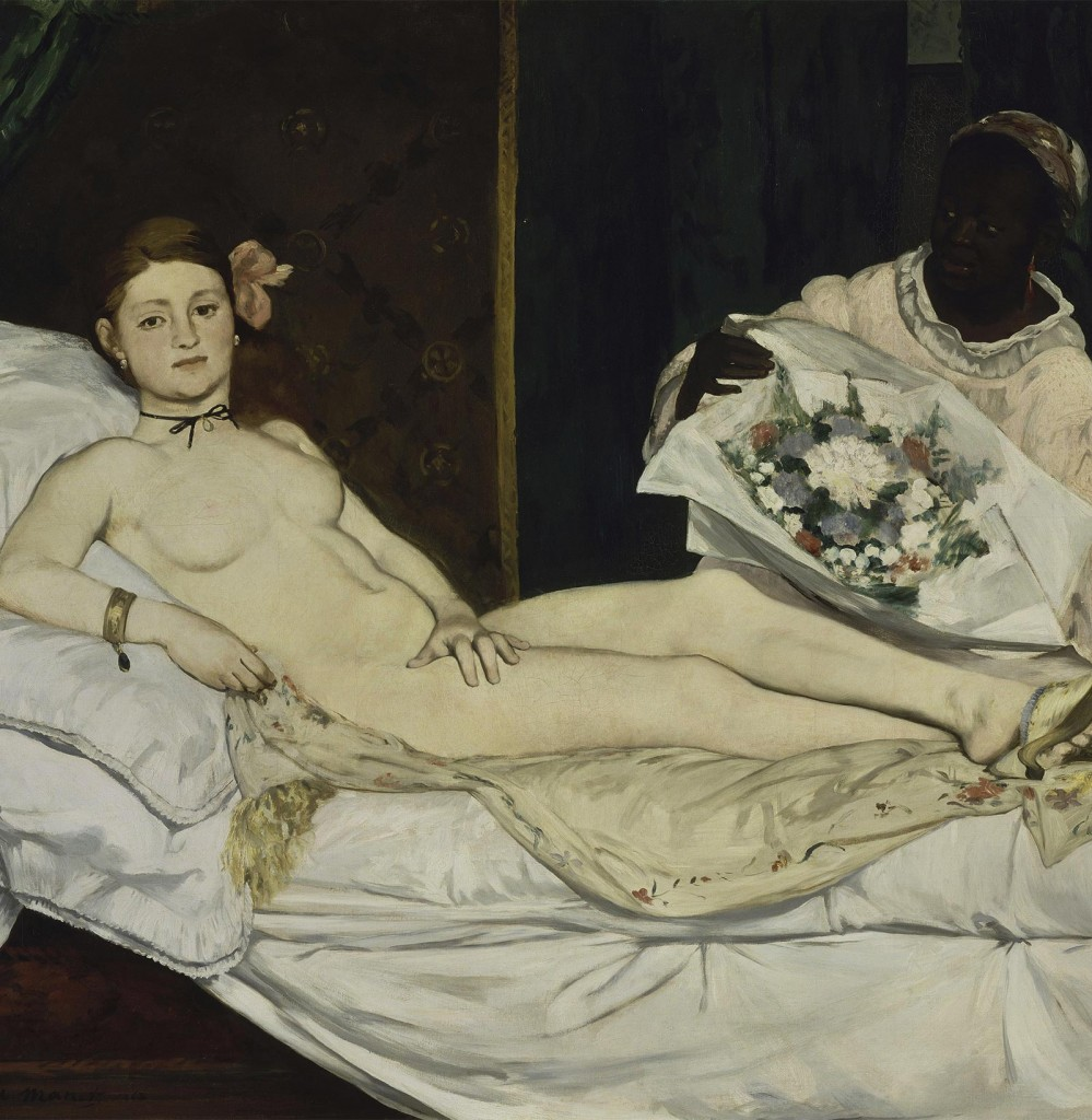 erotic art painting of Édouard Manet, Olympia (1865)