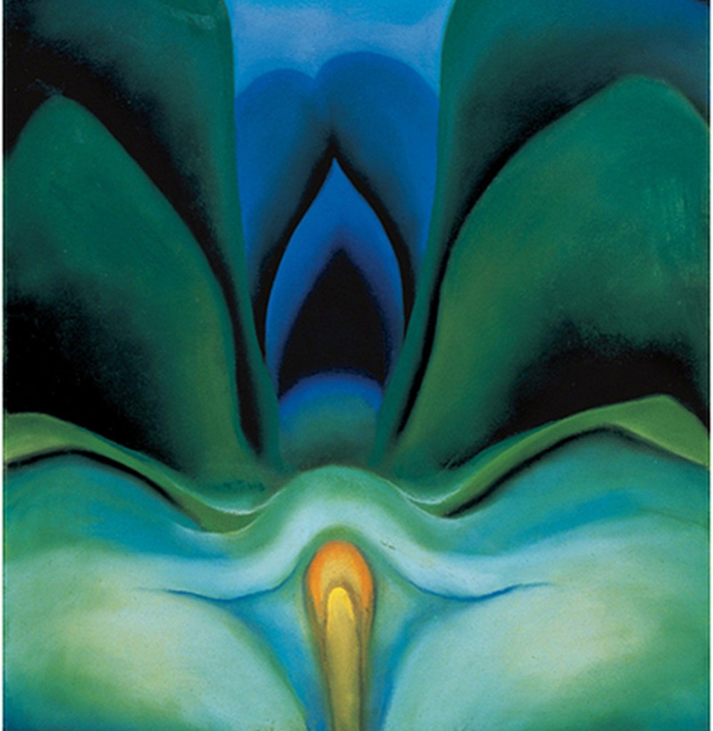 Blue Flower painted by Georgia O'Keeffe in 1918