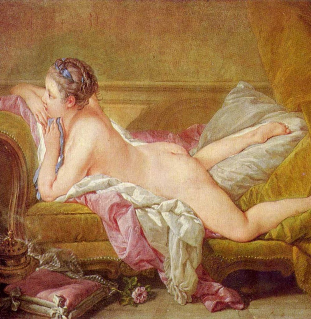 Rococo painting by Francois Boucher | Blonde Odalisque (1752)