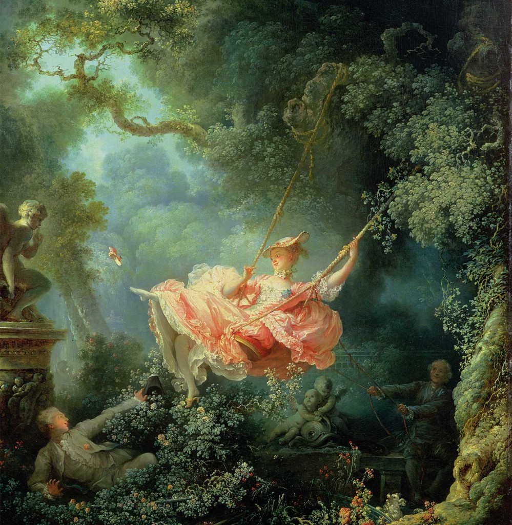 Rococo painting by Jean-Honore Fragonard | The Swing (1767)