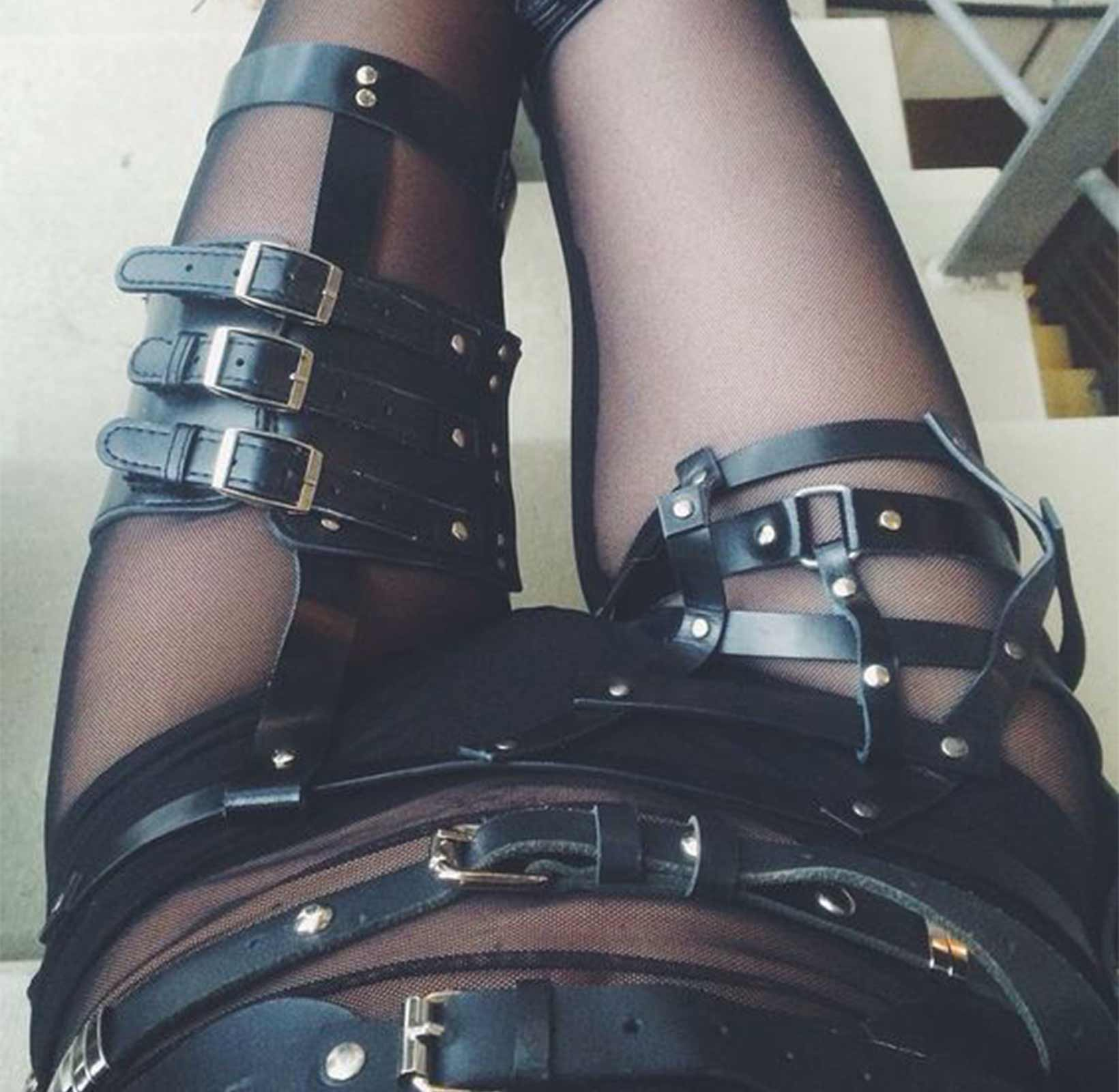 Fetishes: leather straps and belts