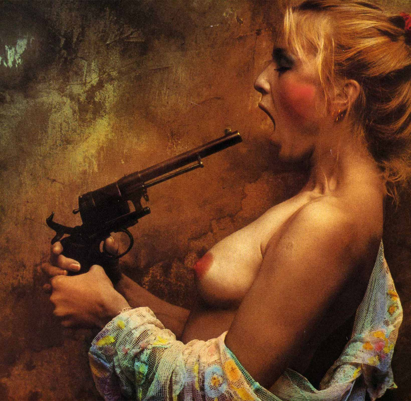Goodbye Jan (woman with gun) by Jan Saudek