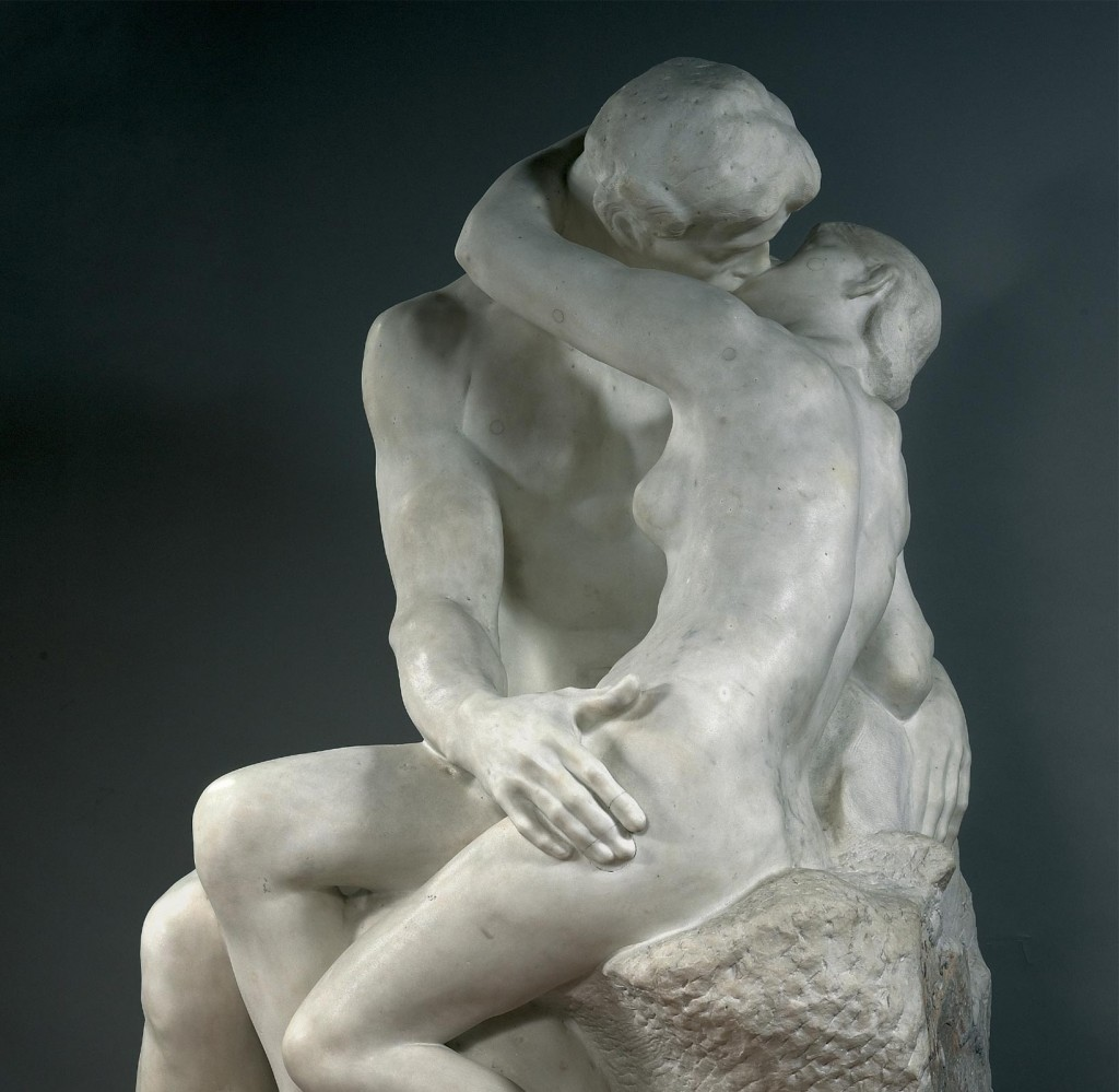 erotica sculpture by Auguste Rodin, The Kiss (1882)