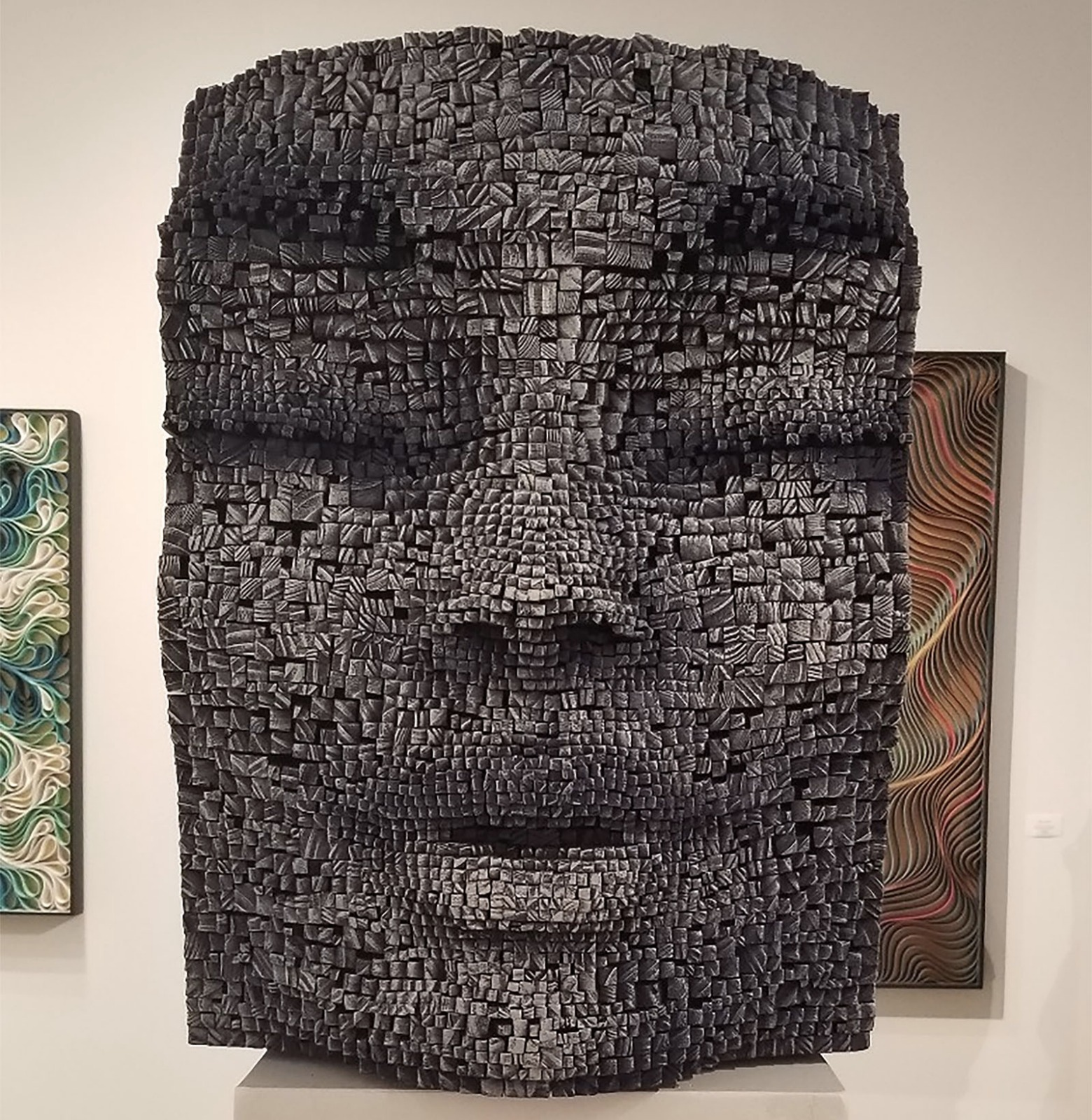 Art Basel Face Sculpture