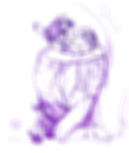 Faun and Nymph in purple
