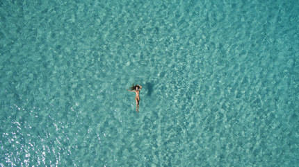 Floating in Ibiza