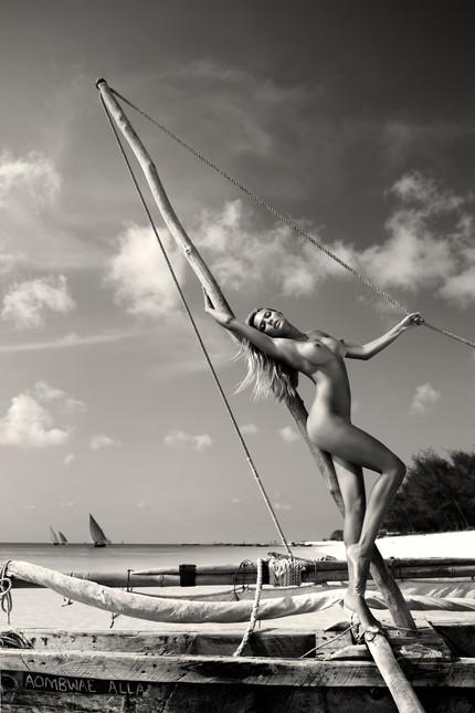 Woman on the Zanzibar boat