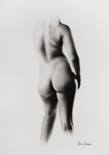 Nude Woman Charcoal Study 45