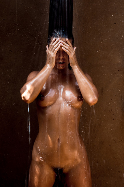 Marisa in the Shower