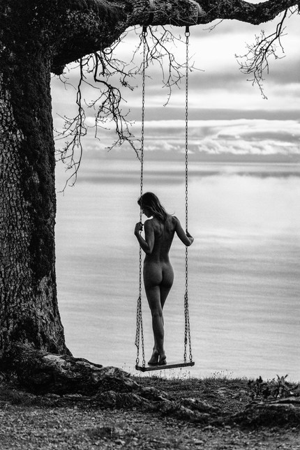 Natalie on a swing